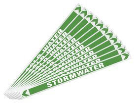 Pipe Marker Storm Water 400mm x 25mm (10)