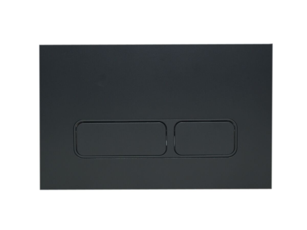 Hideaway+ Rectangle Button/ Plate Inwall ABS Matte Black