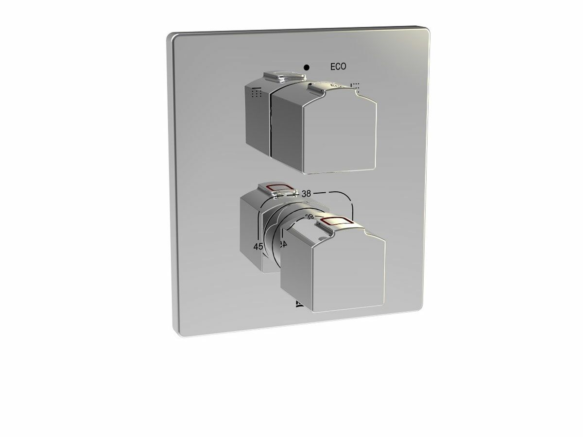 Roca L90-T Concealed Thermostatic Shower Mixer with Diverter Chrome