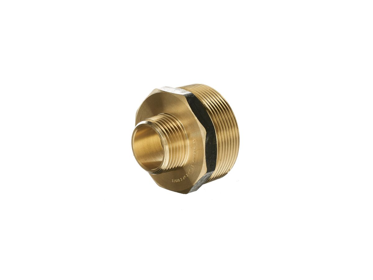 Nipple Hex Reducing Brass 50mm x 25mm