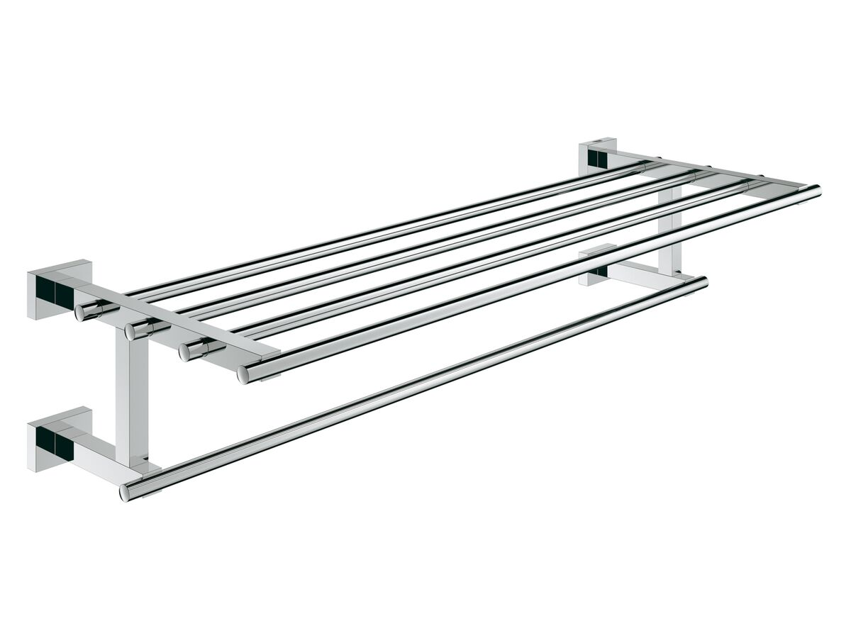 Grohe Essentials Cube Accessories Multi-Towel Rack 600mm Chrome