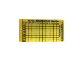 Service Inspection Tag - Plastic