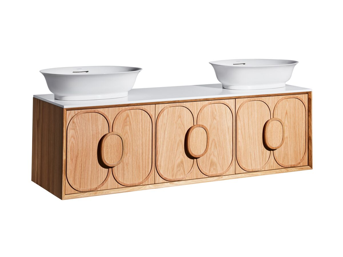Issy Blossom II Vanity Unit with Three Soft Close Drawers and Internal Drawer with Handle
