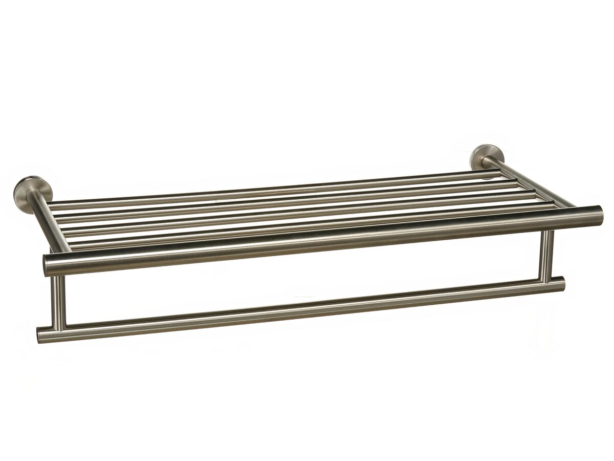 Mizu Drift Towel Rack 530mm Brushed Nickel