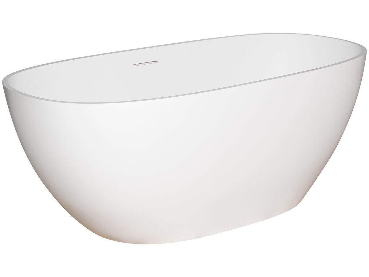 Kado Lussi Freestanding Bath with Plug and Waste 1700 White