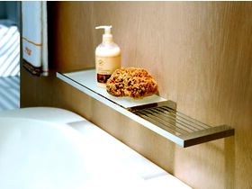 Milli Edge Soap Rack with Glass Shelf Chrome