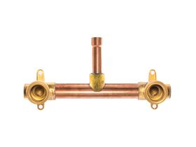 Ardent Shower Assembly 150mm centre 90mm DN18 riser with no tails side entry