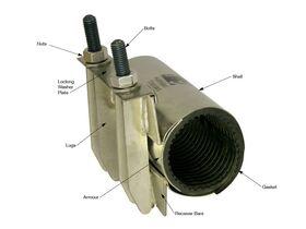 Dura Stainless Steel Repair Clamp {87-93} 80mm x 150mm