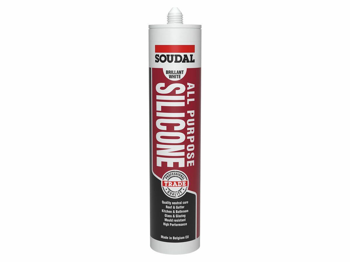 Soudal All Purpose Silicone White 300 Grams