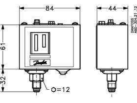 Danfoss KP1 Low Pressure Control