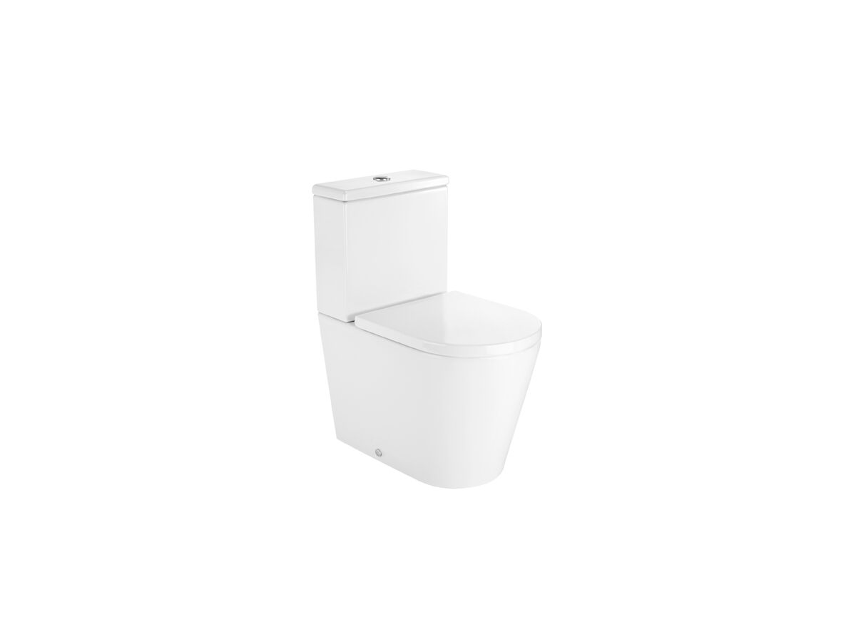 Roca Inspira Rimless Close Coupled Back To Wall Toilet Suite Back Inlet Soft Close Quick Release Seat (4 Star)