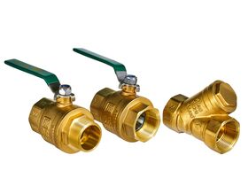 Wilkins Backflow Reduced Pressure Zone with Ball Valve 40mm Y Strainer