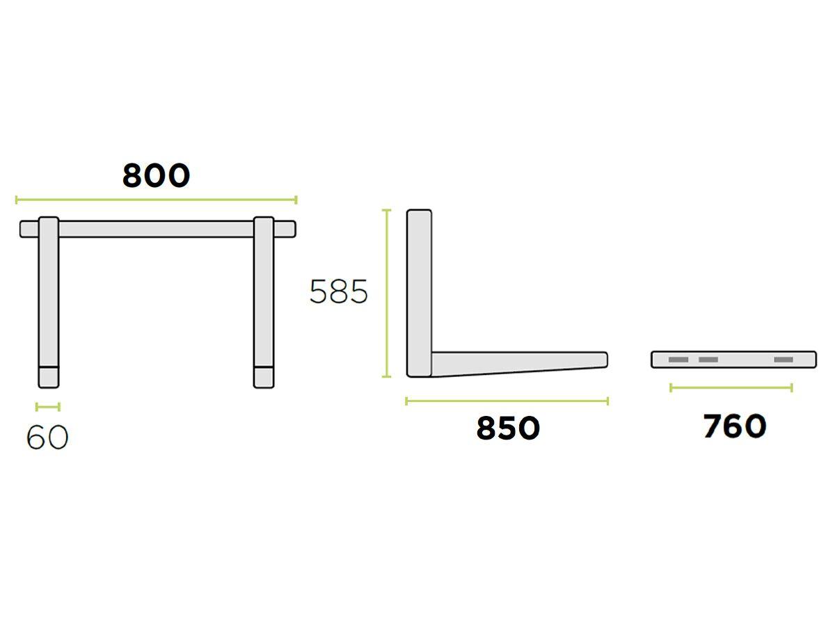 Rodigas Ref Wall Bracket 100kg 1200W850D