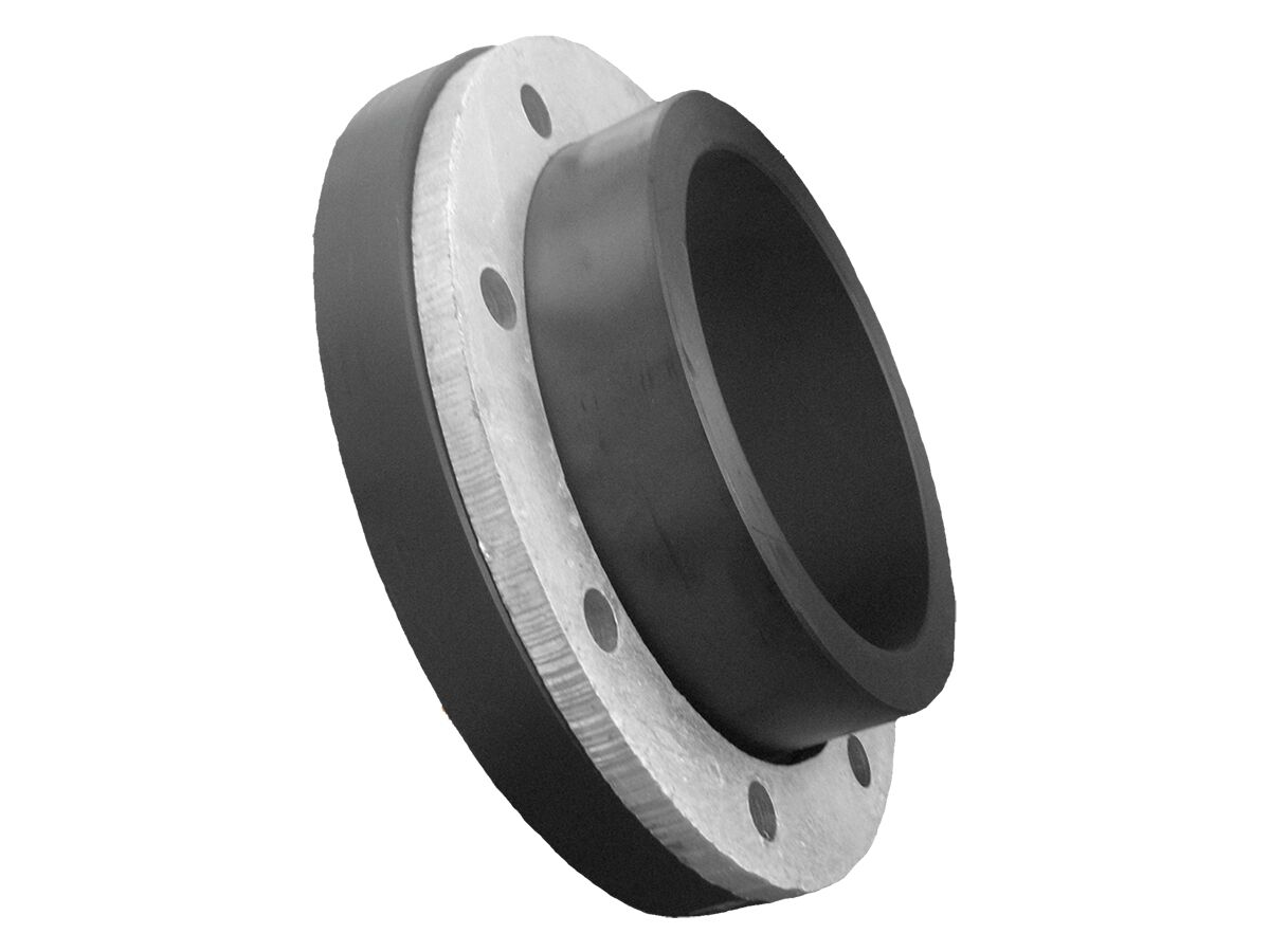 PE Maxi Stub Flange with Stainless Steel Backing Ring