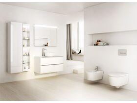 Roca Inspira Round Above Counter Basin 370mm x 370mm Gloss White