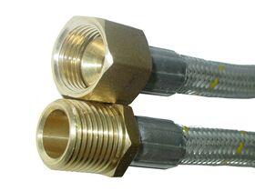 "Flexible Hose-10mm Gas (1/2""Female Flare x Male)"""