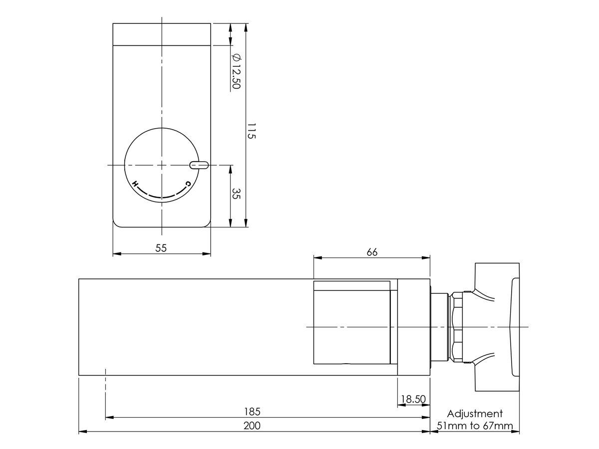 Milli Axon Wall Bath Mixer Set Chrome / Matte Black