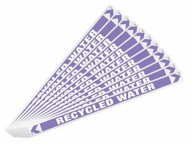 Pipe Marker Recycled Water 400mm x 27mm (10)