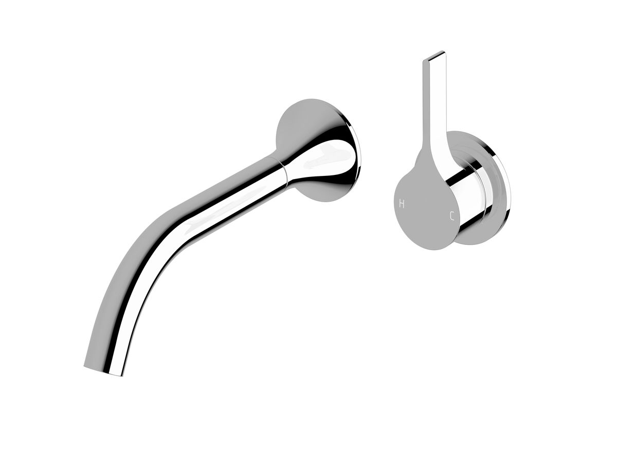 Milli Oria Wall Bath Mixer Outlet System 215mm Chrome