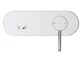 Mizu Drift MK2 Wall Basin Mixer Tap Set Chrome (4 Star)