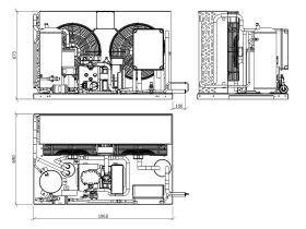 Tecumseh Semi Hermetic EVO Condensing Unit SHT4564ZHR-TZ 3 Phase