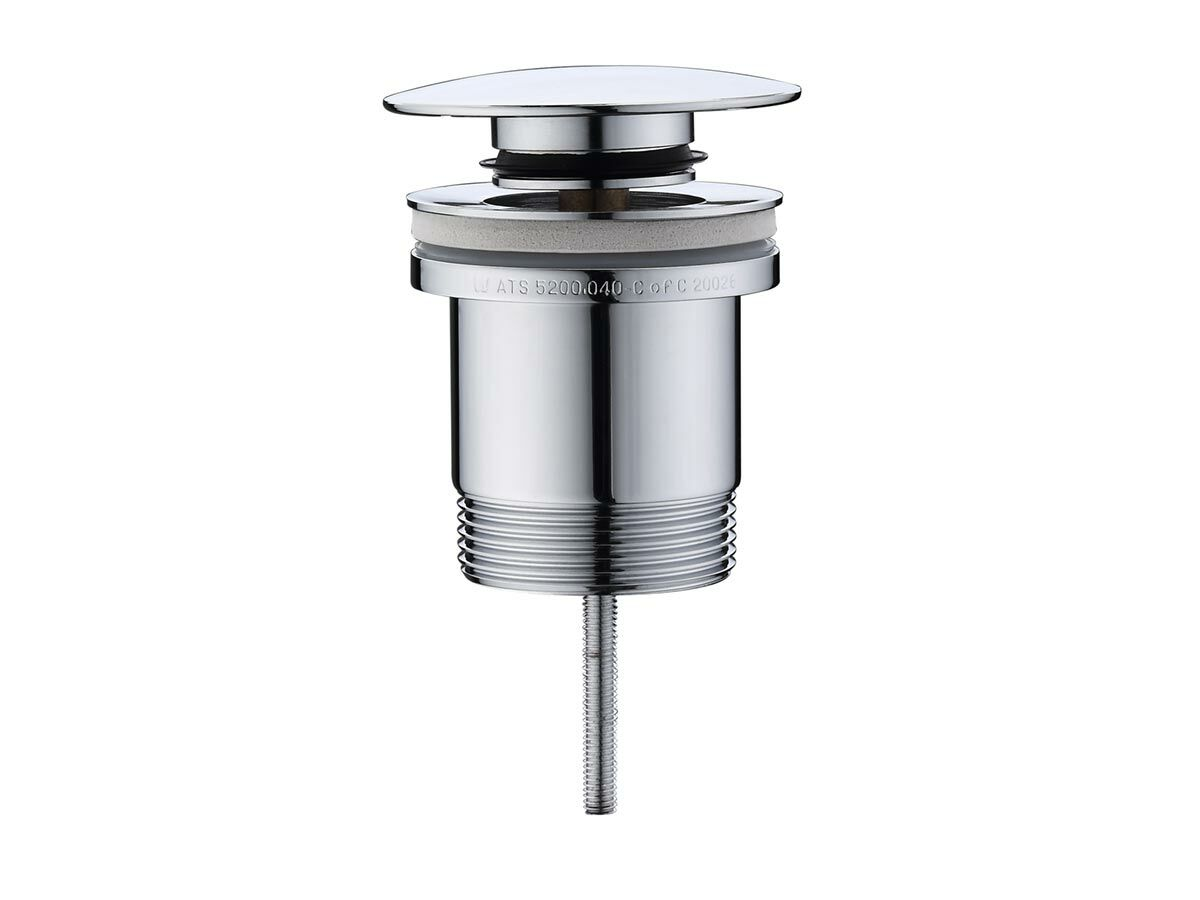Mizu Drift Universal DN40 Dome Pop Up Plug & Waste Chrome