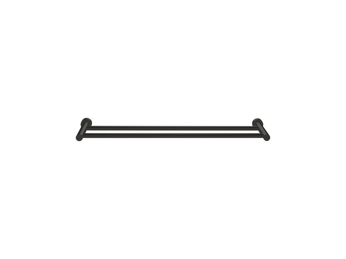 Scala Double Towel Rail 700mm LUX PVD Matte Opium Black