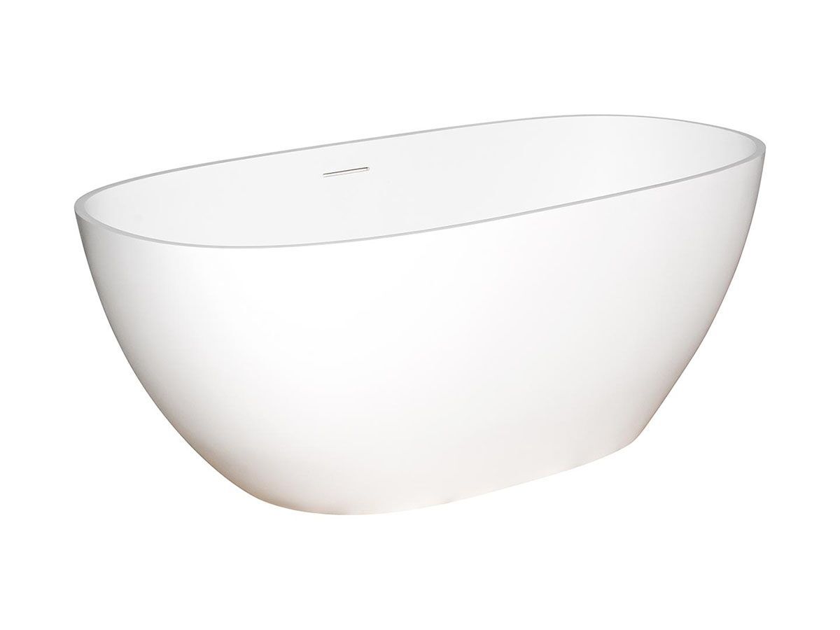 Kado Lussi Freestanding Bath with Plug and Waste 1500mm White