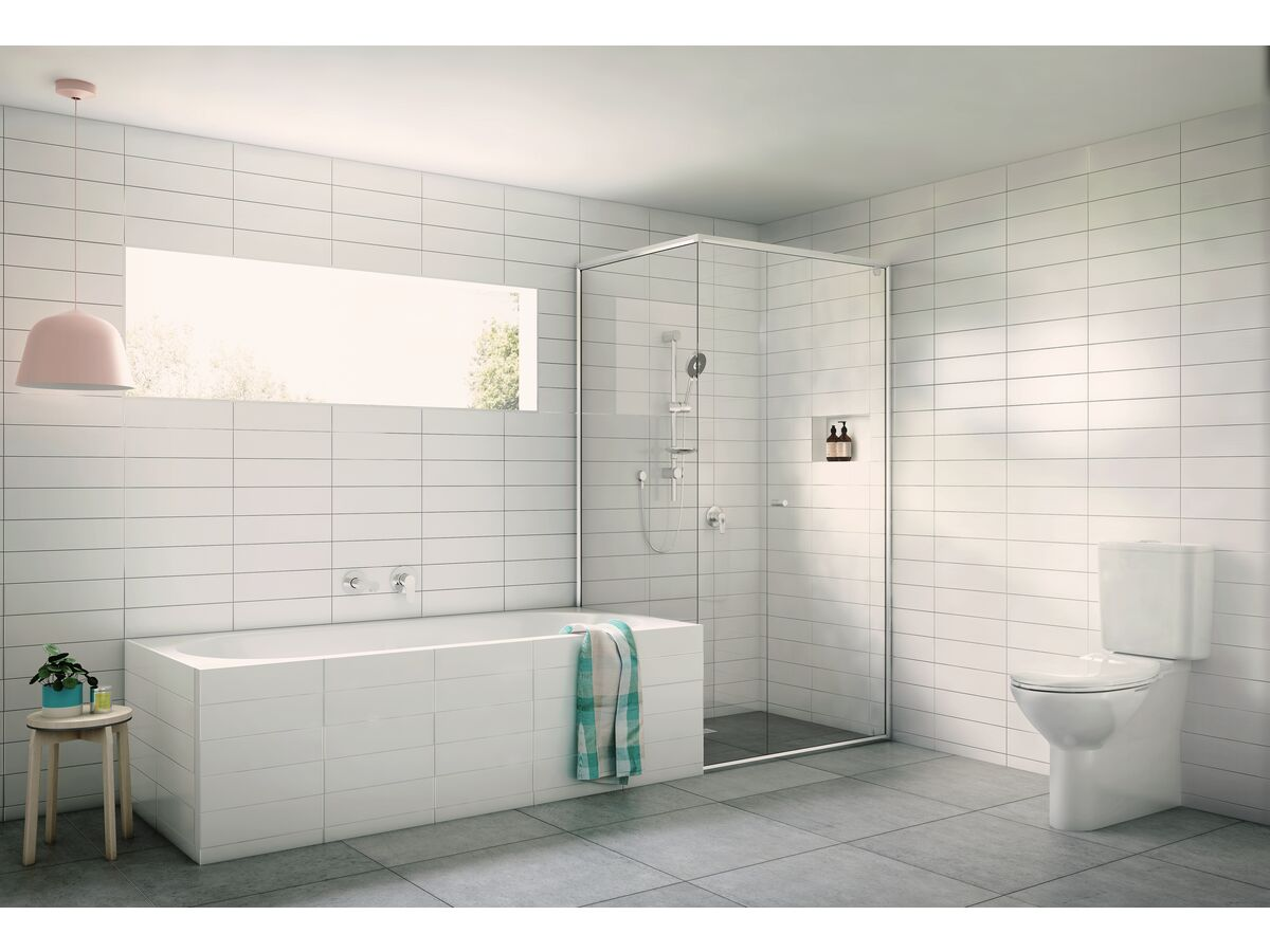Posh Solus Square Close Coupled Back To Wall Back Inlet Toilet Suite S P Trap With Soft Close Quick Release Seat White Chrome 4 Star From Reece