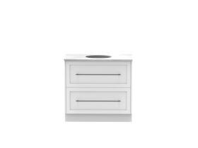 Kado Lux 900mm All Drawer Floor Mounted Vanity Unit 2 Drawers Single Centre Vanity (No Basin)