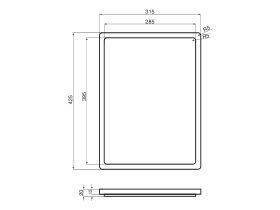 AFA Vertus Chopping Board 425 x 315mm Solid Wood Mahogany