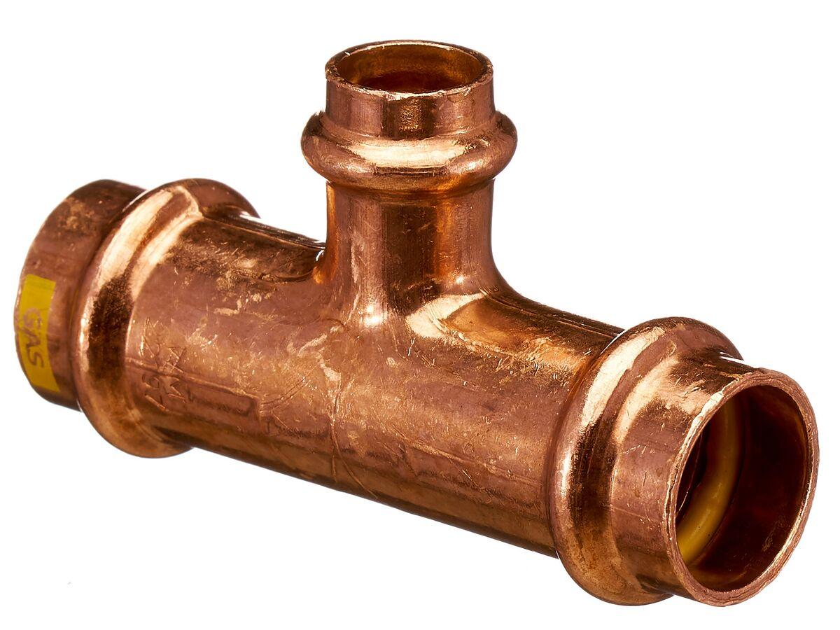 >B< Press Gas Reducing Tee 20mm x 20mm x 15mm