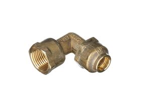 Compression Elbow Flared 15mm Female x 15mm Copper