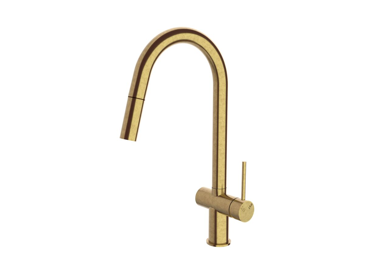 Scala Pullout Sink Mixer Living Tumbled Brass (4 Star)