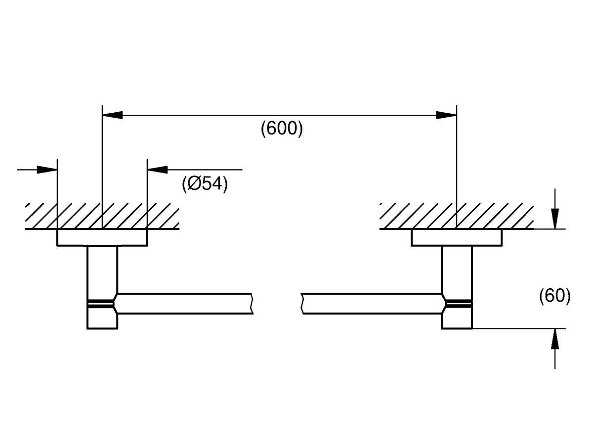 Grohe Essentials Accessories Single Towel Rail 600mm Chrome