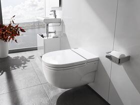 Roca Meridian In Tank Wall Hung Pan with Soft Close Seat & I Support White (4 Star)
