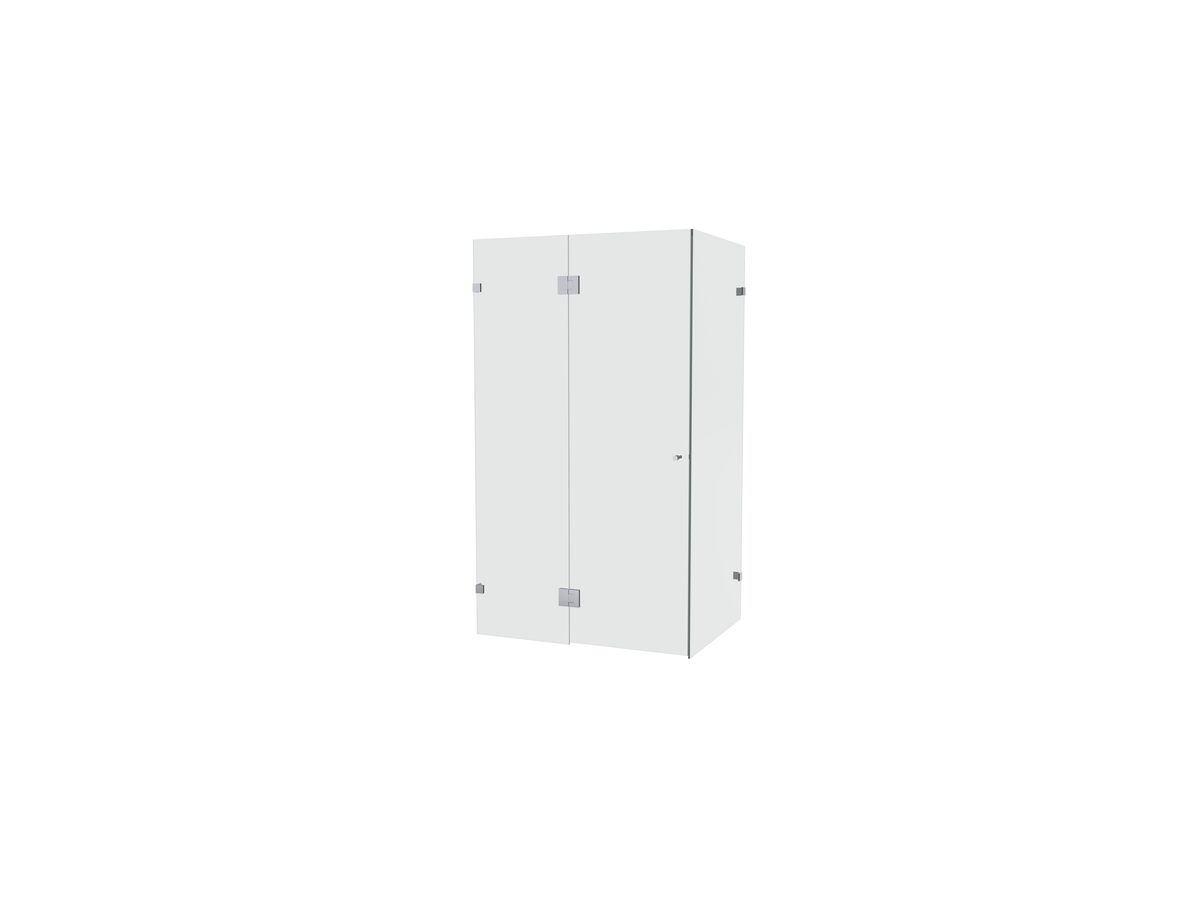 Creative Glass Frameless Front and Return shower screen with hinged door