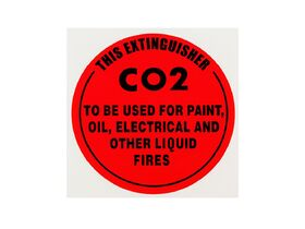 Instruction Signs CO2 - Metal