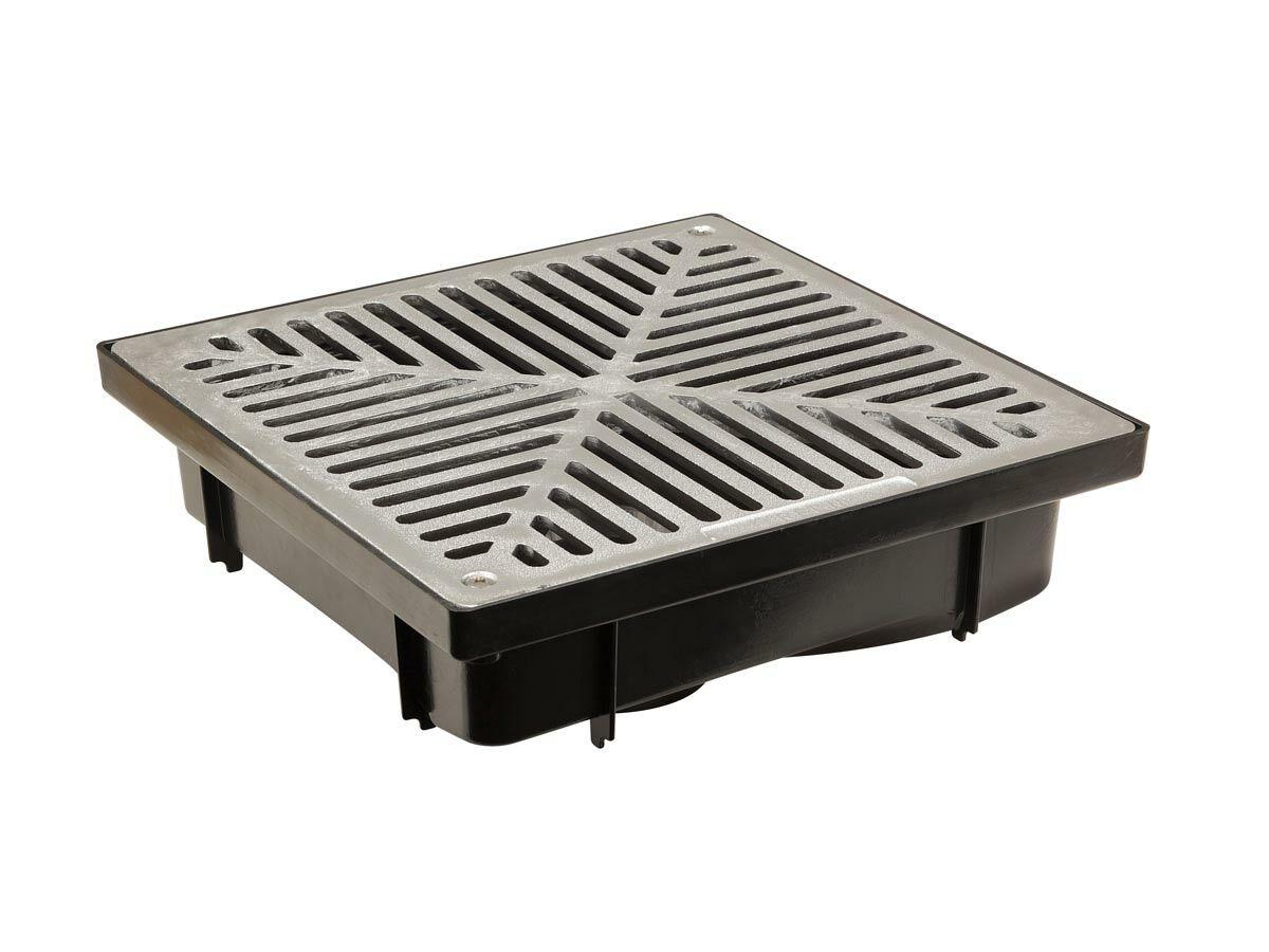 Reln 300mm Uni-Pit with Plain Aluminium Grate