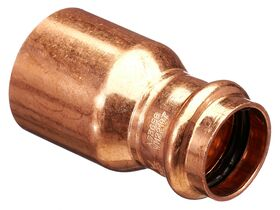 >B< Press Water Fitting Reducer 40mm x 25mm
