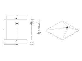 Roca Cyprus Shower Floor 1000 x 1000mm Blanco