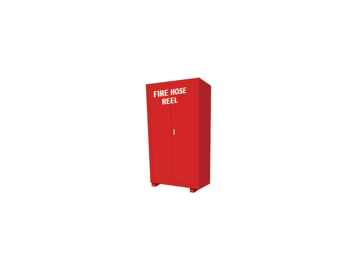 Fire Hose Reel Cabinet Freestanding with Legs