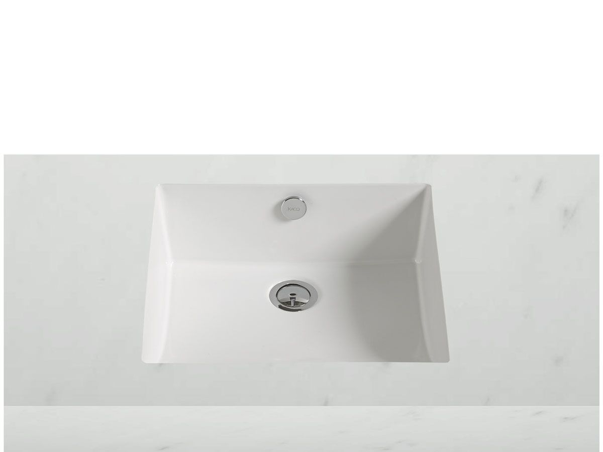 Kado Arc Under Counter Basin No Taphole 430mm White