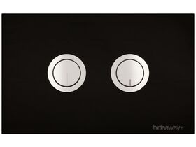 Hideaway+ Round Button Plate Glass Black Chrome