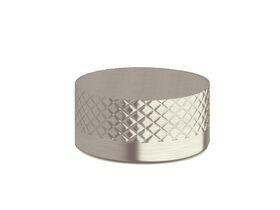 Milli Pure Progressive Top Mount Hob Mixer with Diamond Textured Handle Brushed Nickel
