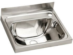 Dura Wall Basin Stainless Steel 70mm 500X420 Right Hand 1 Taphole