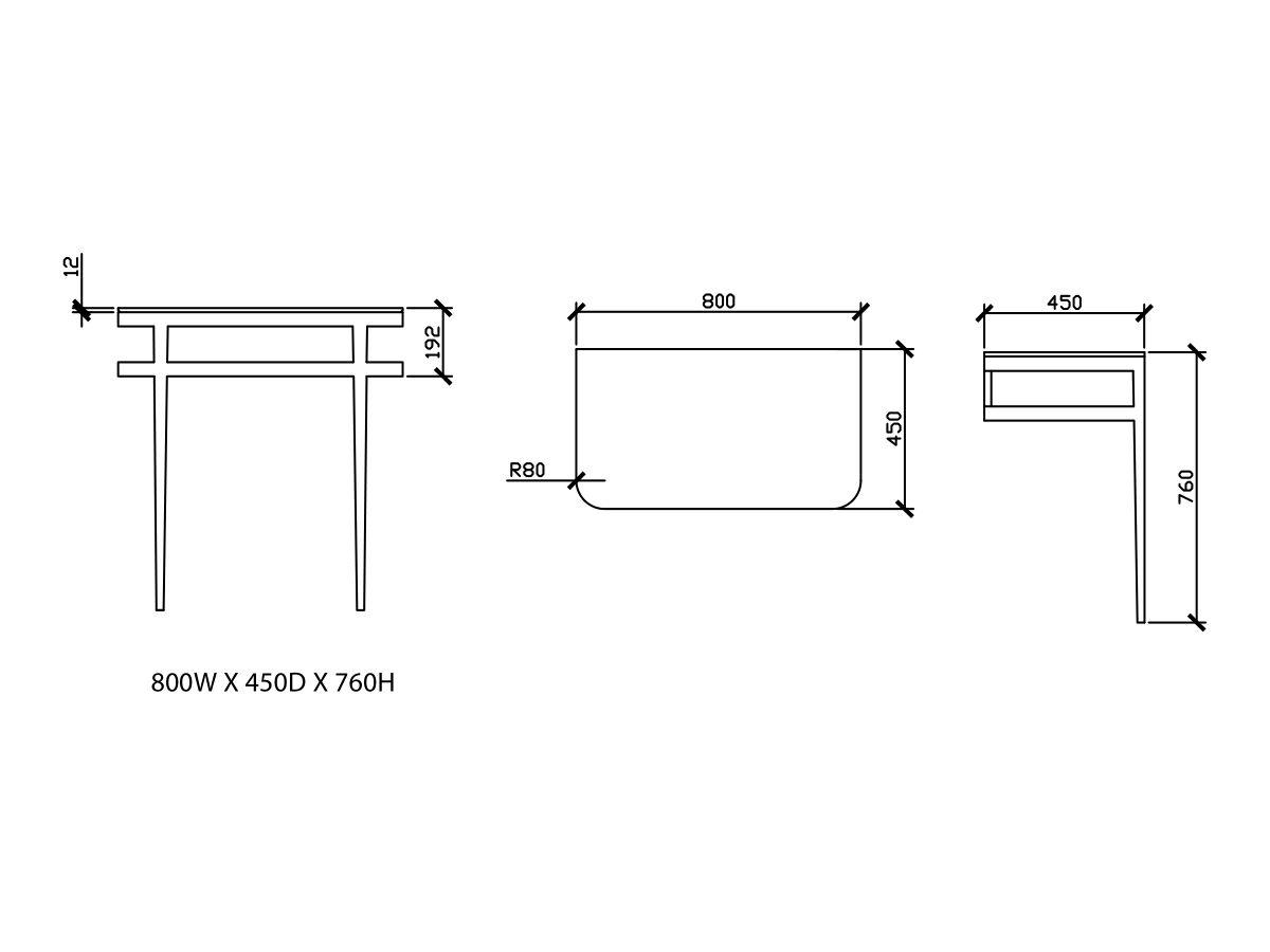 Issy Z1 Vanity Unit 800mm (W) x 450mm (D) No Basin