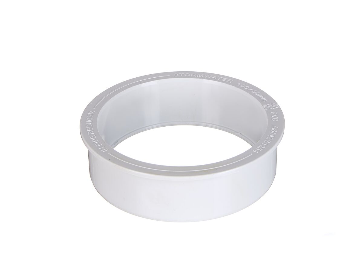 PVC Stormwater Pipe Reducer 100mm x 90mm Pipe to Pipe