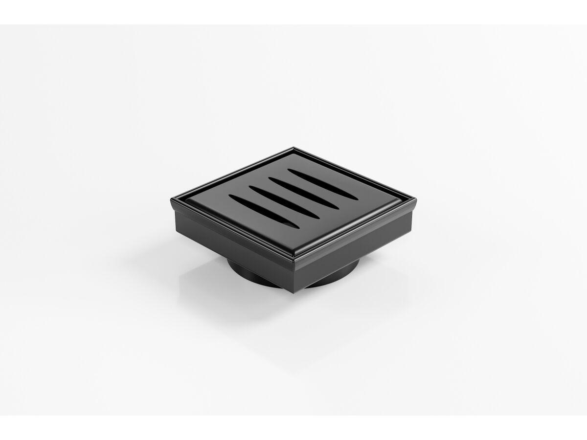 Kado Lux Oval Floor Waste 97mm DN80 Matte Black