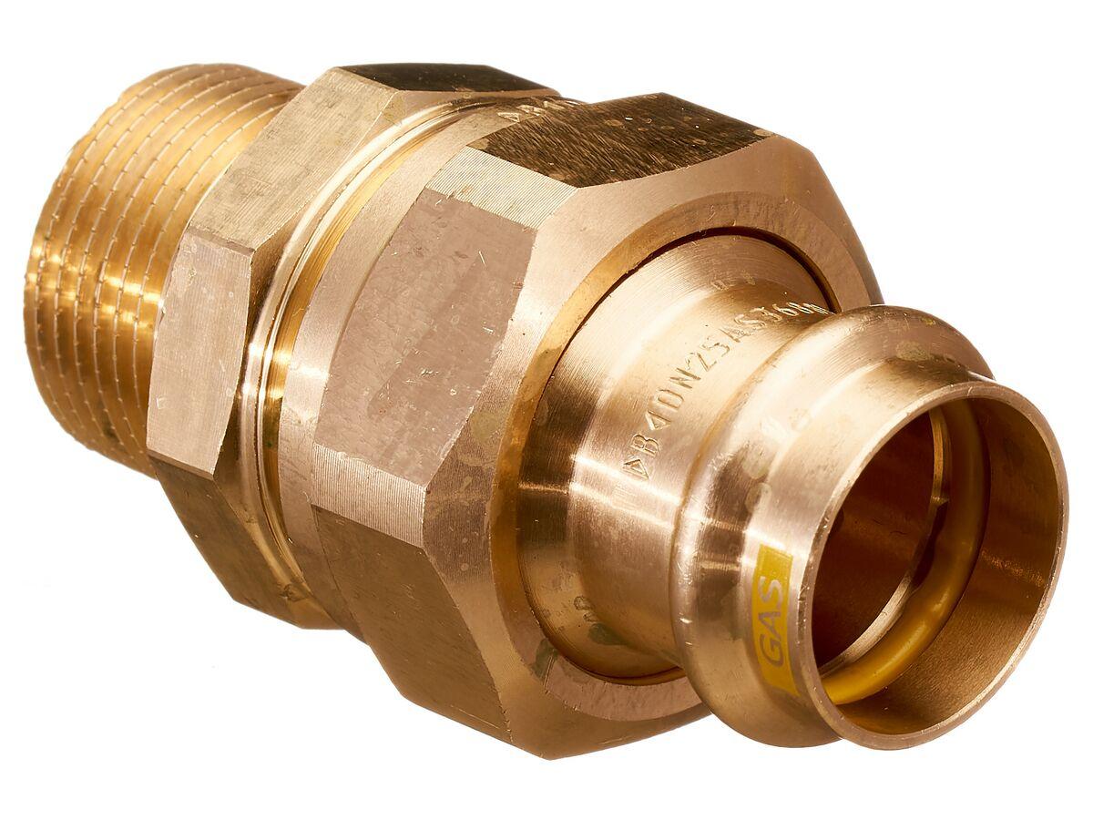 ">B< Press Gas Male Union 25mm x 1"" BSP"""